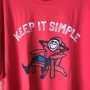 Life Is Good Shirts - Life is Good Red KEEP IT SIMPLE Tee XXL